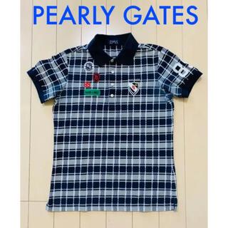 PEARLY GATES - パーリーゲイツ メンズ ポロシャツ シャツ トップス 半袖 ネイビー 4 M