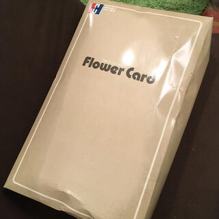 毛布 Flower Card フラワーカード 140x200 アクリル 花柄