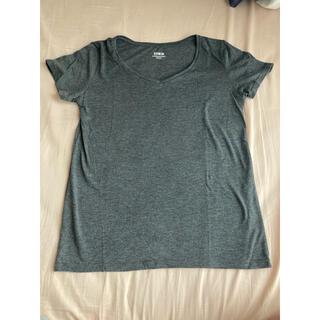 エドウィン(EDWIN)のTシャツ EDWIN エドウィン ベーシック グレー レディース M(Tシャツ(半袖/袖なし))