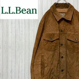 L.L.Bean - エルエルビーン スエードジャケット トラッカージャケット 90年代 レザー M