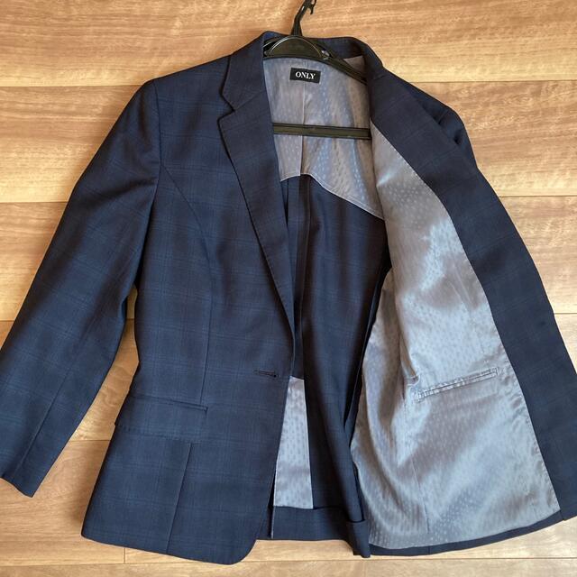 【ONLY】レディーススーツセットアップ/チェック柄/9号 レディースのフォーマル/ドレス(スーツ)の商品写真