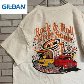 GILDAN - 90s 古着 ギルダン Tシャツ バックプリント ビッグシルエット ゆるだぼ