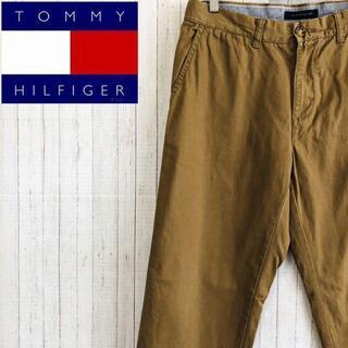 TOMMY HILFIGER - トミーヒルフィガー チノパン ベージュ ストレート パンツ 32/32