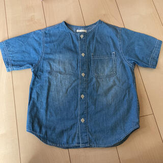 ジーユー(GU)のGU デニムシャツ 110サイズ(ブラウス)