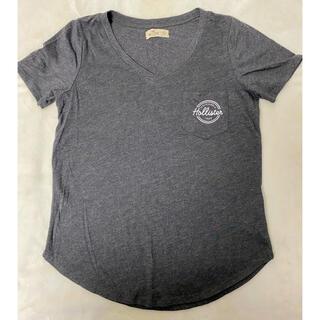 ホリスター(Hollister)の【ふくみ様専用】HOLLSTER   ホリスター 胸ポケット付きTシャツ グレー(Tシャツ(半袖/袖なし))