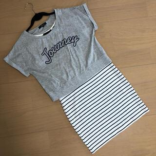アンドバイピーアンドディー(&byP&D)の☆& by P&D☆ワンピースと半袖Tシャツのセットアップ(ミニワンピース)