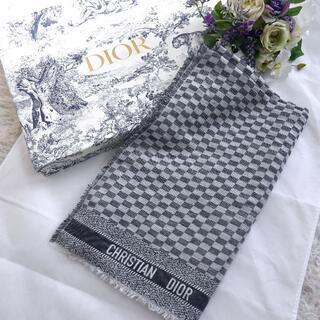 Christian Dior - ★Christian Dior★最新タグ★新品同様★超大判ストール★ロゴ★ケープ