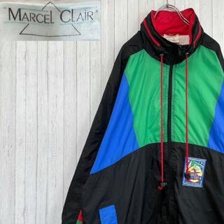 MARCEL CLAiR ナイロンジャケット マルチカラー ダブルトップ M