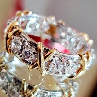 ティファニー(Tiffany & Co.)のK18 Pt900 12ストーン リング ティファニー 似 ダイヤ 1.20ct(リング(指輪))