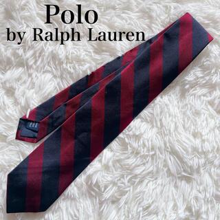 ラルフローレン(Ralph Lauren)の極美品 ラルフローレン ネクタイ 高級シルク ストライプ柄 ビジネス シンプル(ネクタイ)