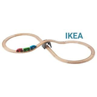 イケア(IKEA)のIKEAイケア リラブー 木製レールセット(電車のおもちゃ/車)