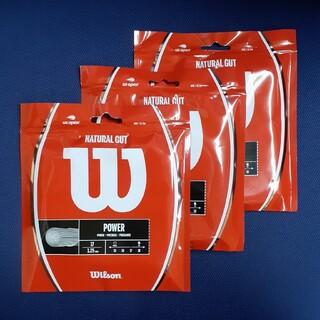 wilson - ウイルソン ナチュラル ガット 17 Wilson NATURAL 3張りセット