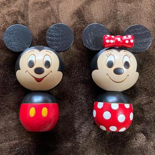 ディズニー(Disney)の卯三郎こけし  ミッキー&ミニー(彫刻/オブジェ)