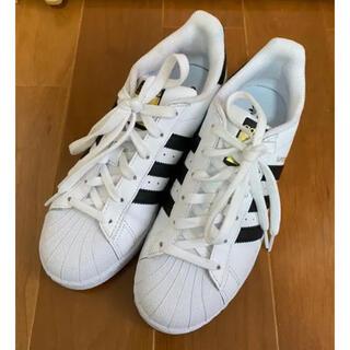 アディダス(adidas)のアディダス スーパースター ホワイト ブラック W(スニーカー)