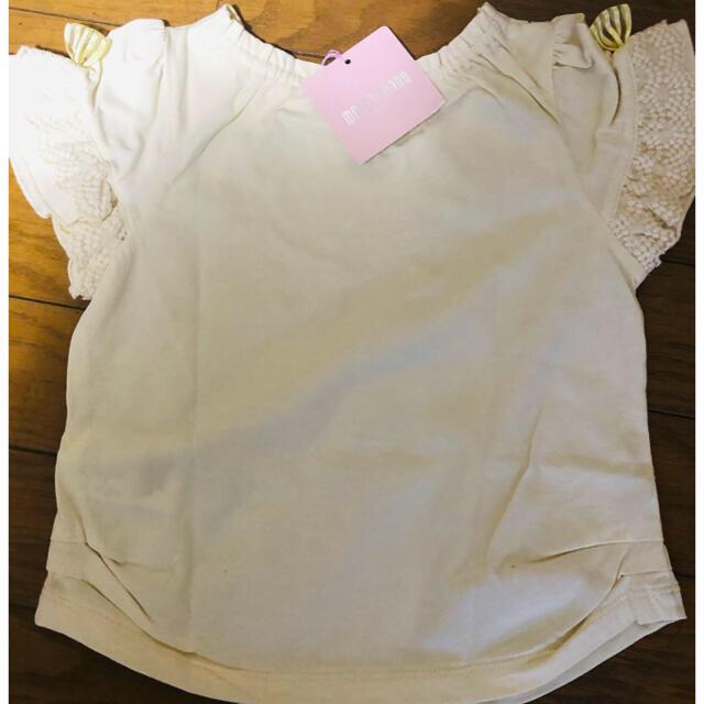 mezzo piano(メゾピアノ)の《新品》メゾピアノ(mezzo piano)Tシャツ100 キッズ/ベビー/マタニティのキッズ服女の子用(90cm~)(Tシャツ/カットソー)の商品写真