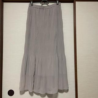GU - ジーユー GU シフォンスカート ロングスカート