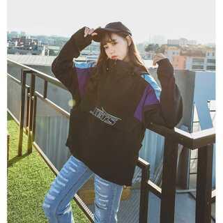 【送料無料】NEW YORK パーカー ジャケット ブルゾン ブラック Mサイズ(ナイロンジャケット)