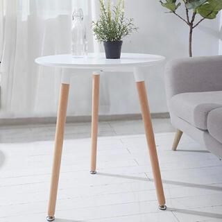 ニトリ(ニトリ)の丸テーブル 白 カフェテーブル ティーテーブル(ダイニングテーブル)