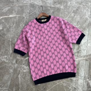 グッチ(Gucci)のGucci GGロゴ ウール 半袖セーター M(ニット/セーター)