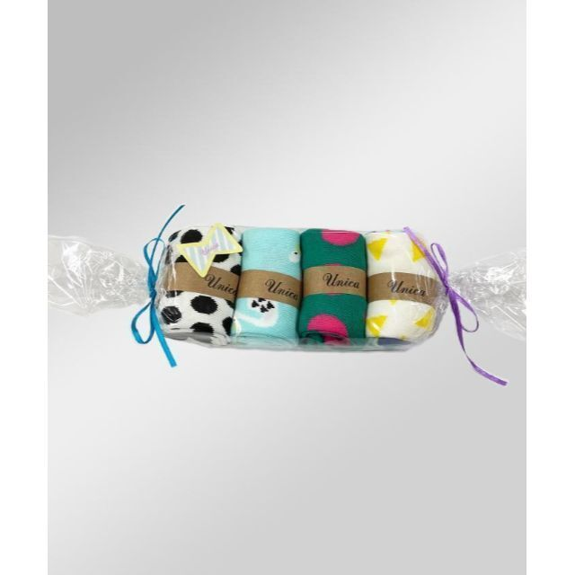 UNICA(ユニカ)の★新品★クロネコ4Pソックス 【M】17~20㎝ キッズ/ベビー/マタニティのこども用ファッション小物(靴下/タイツ)の商品写真