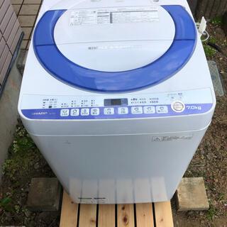 シャープ(SHARP)の【直接引き取りの場合10000円引き】SHARP 洗濯機 ES-T707-A(洗濯機)