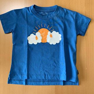 コドモビームス(こども ビームス)の【タイニーコットンズ】新品 Tシャツ 半袖 2Y ネイビー 青(Tシャツ/カットソー)