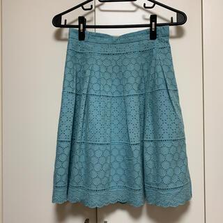 アストリアオディール(ASTORIA ODIER)の在庫一掃セール!【ブルーレースのスカート☆】(ひざ丈スカート)