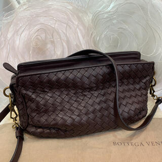 Bottega Veneta - ☆超美品☆ボッテガヴェネタ イントレチャート ショルダーバッグ ダークブラウン