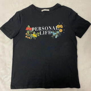 ザラ(ZARA)の【新品】ZARA  FRAFALUC   Tシャツ ブラック(Tシャツ(半袖/袖なし))
