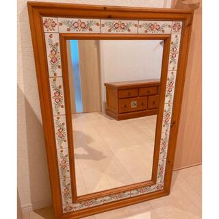 アクタス(ACTUS)の美品 カントリー調 全身鏡 アンティーク ヴィンテージ インテリア ナチュラル(壁掛けミラー)