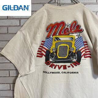 ギルタン(GILDAN)の90s 古着 ギルダン Tシャツ バックプリント ビッグシルエット ゆるだぼ(Tシャツ/カットソー(半袖/袖なし))