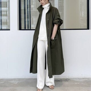L'Appartement DEUXIEME CLASSE - Cotton Nylon Volume Coat カーキ