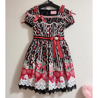 Angelic Pretty - Little Bunny Strawberryワンピースセット