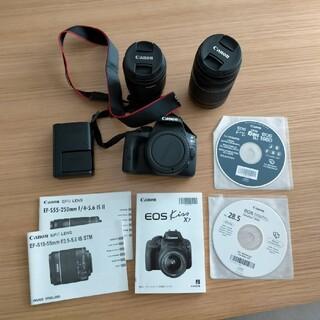 Canon デジタル一眼レフ EOS Kiss X7 ダブルズームキット
