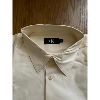 シーケーカルバンクライン(ck Calvin Klein)の☆cKカルバン・クライン☆シャツ☆クリーム色☆サイズL☆(シャツ)