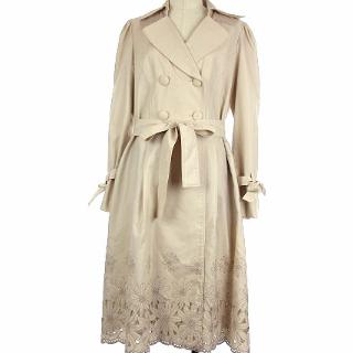 M'S GRACY - 美品 エムズグレイシー 花柄 刺繍 リボン ベルト コート トレンチコート