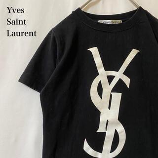 Yves Saint Laurent Beaute - ★ vintege yves saint laurent ビッグロゴ Tシャツ