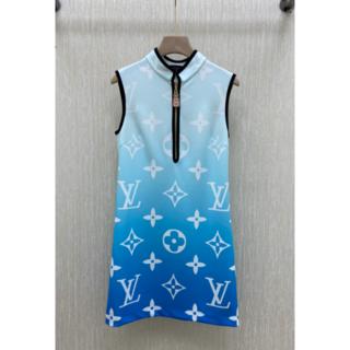 ルイヴィトン(LOUIS VUITTON)のLouis Vuitton ブルーラグーンモノグラムストレートドレス M(ひざ丈ワンピース)