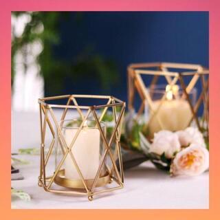 キャンドルホルダー  花瓶  ドライフラワー 造花 北欧 ゴールド