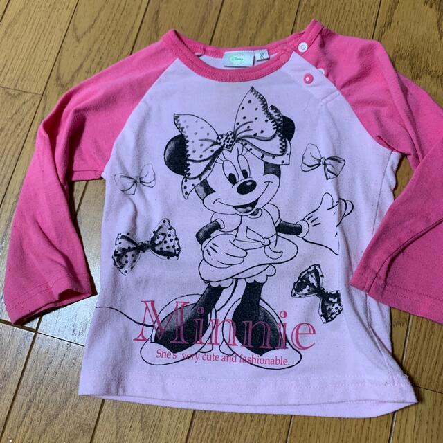 Disney(ディズニー)のミニーちゃん ロンT 90㎝ キッズ/ベビー/マタニティのキッズ服女の子用(90cm~)(Tシャツ/カットソー)の商品写真