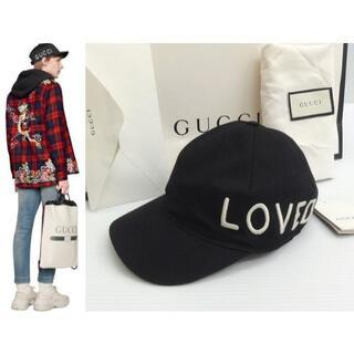Gucci - グッチ GUCCI 国内正規 エンブロイダリー ロゴ キャップ