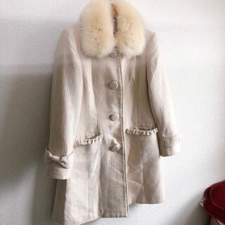 イマージュ(IMAGE)のIMAGE♡フォックスファー襟ロングコート♡ホワイトベージュ9号♡イマージュ♡(毛皮/ファーコート)