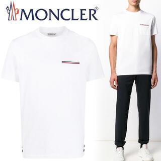 MONCLER - 114 MONCLERトリコロール ポケット付き Tシャツ ホワイト S
