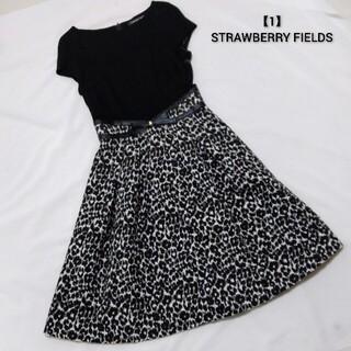 STRAWBERRY-FIELDS - STRAWBERRY FIELDS レオパードワンピ