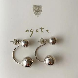 agete - アガット ピアス シルバー