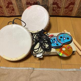 プレイステーション2(PlayStation2)のプレステ2本体 太鼓の達人2セット 動作確認済み(家庭用ゲーム機本体)