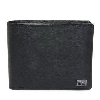 ポーター(PORTER)のポーター カレント レザー 二つ折り財布 黒 ブラック 052-02204 (折り財布)