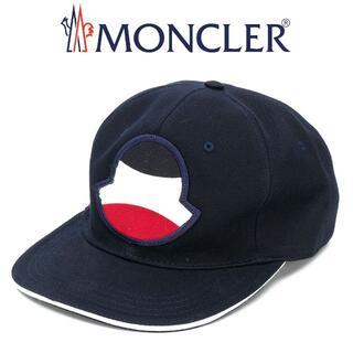 モンクレール(MONCLER)の18 MONCLER ネイビー ロゴワッペン 帽子 ベースボールキャップ (キャップ)