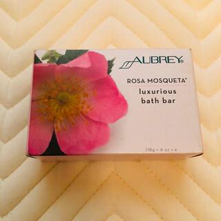 オーブリーオーガニクス(Aubrey Organics)のAUBREY ROSA MOSQUETA ローザモスク 石鹸 118g(ボディソープ/石鹸)