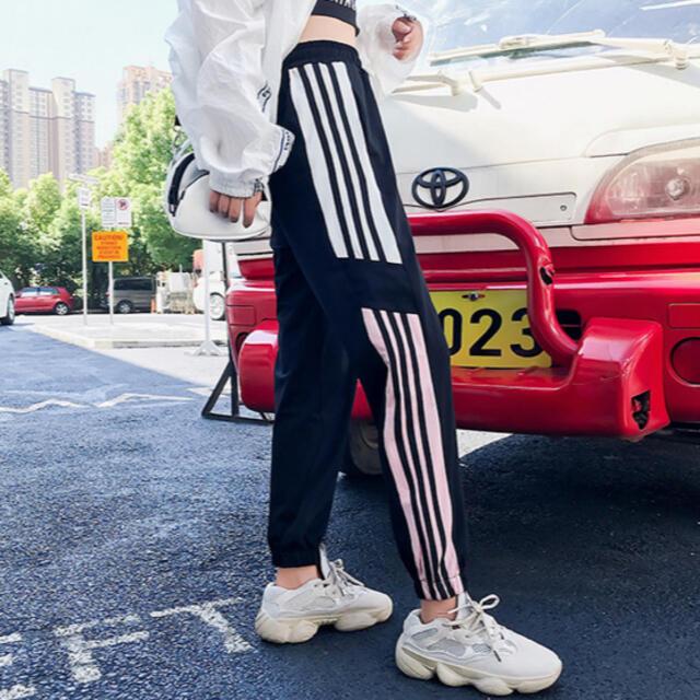 GYDA(ジェイダ)のジャージ スウェット ラインパンツ トラックパンツ ジョガーパンツ  レディースのパンツ(カジュアルパンツ)の商品写真